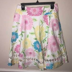 Vintage Lilly Pulitzer Floral Cut Out Skirt 4